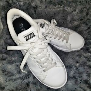 Adidas Neo Sneakers Tnnis Shoes Solid White 8.5